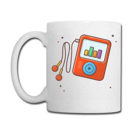 Audio Music Player With Earphone, Music Notes . Portable Media Player Coffee Mug Designed By Lenart