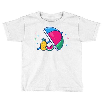 Beach Umbrella With Pineapple Toddler T-shirt Designed By Lenart