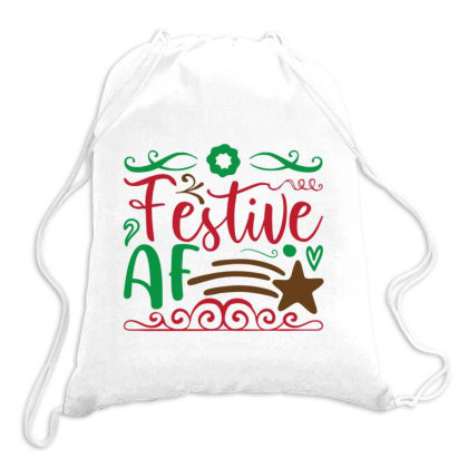 Christmas Festive Af Drawstring Bags Designed By Perfect Designers