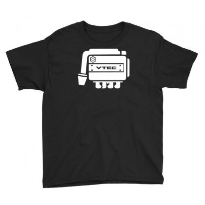 Vtec Engine Youth Tee Designed By Budi