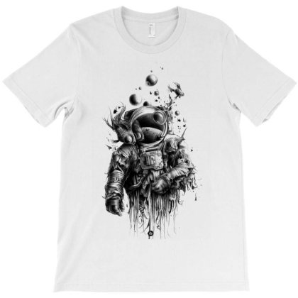 Astronaut Drawing Art Outer Space T-shirt Designed By Salmanaz