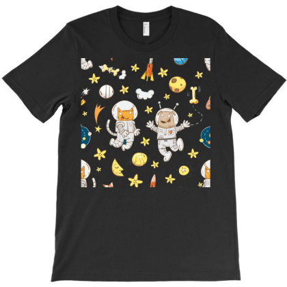Astronaut Dog Cat Clip Art Kitten T-shirt Designed By Salmanaz