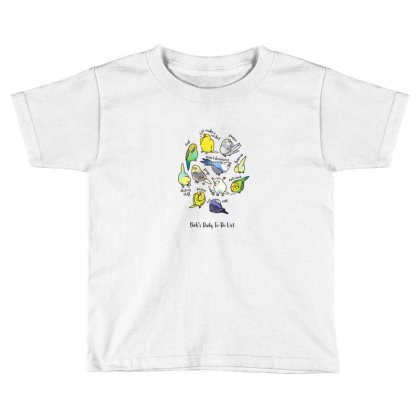 Budgie's Daily To Do List T Shirt (light Version) Toddler T-shirt Designed By Blackstone