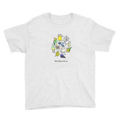 Budgie's Daily To Do List T Shirt (light Version) Youth Tee Designed By Blackstone
