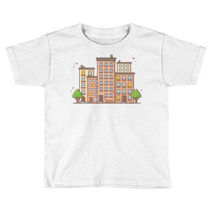 Cityscape 1 Toddler T-shirt Designed By Lenart