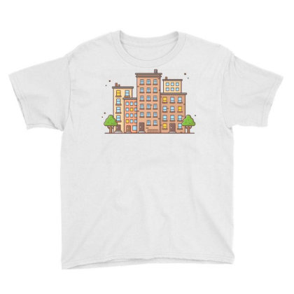 Cityscape 1 Youth Tee Designed By Lenart
