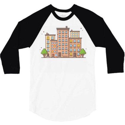 Cityscape 1 3/4 Sleeve Shirt Designed By Lenart