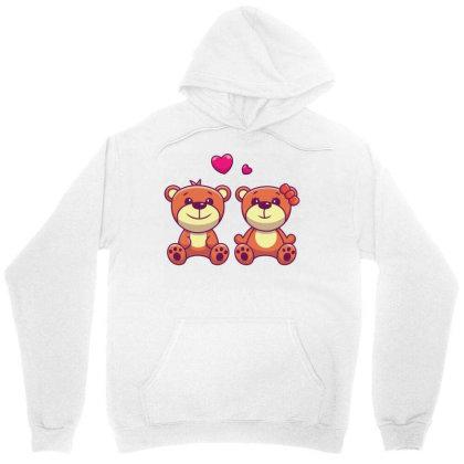 Couple Of Teddy Bear In Love Unisex Hoodie