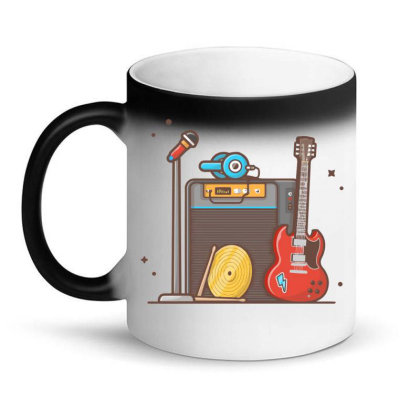 Concert With Musical Instruments Magic Mug Designed By Lenart