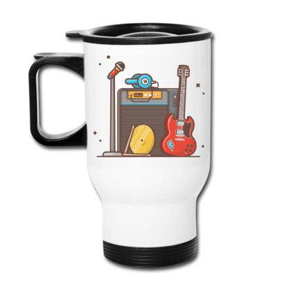 Concert With Musical Instruments Travel Mug Designed By Lenart