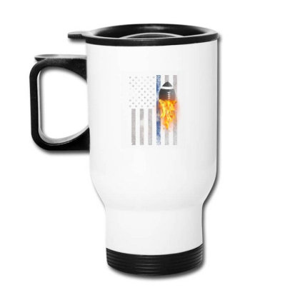 American Football Flag Travel Mug Designed By Gurkan