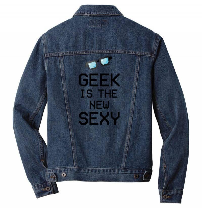 Geek Is The New Sexy Men Denim Jacket | Artistshot