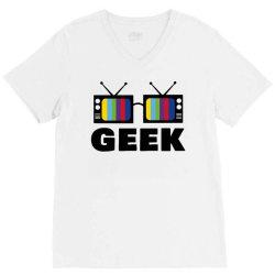 geek television V-Neck Tee   Artistshot