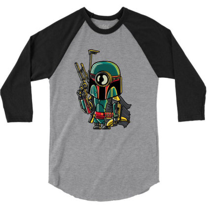 Minion Boba Fett 3/4 Sleeve Shirt Designed By Douglasstencil
