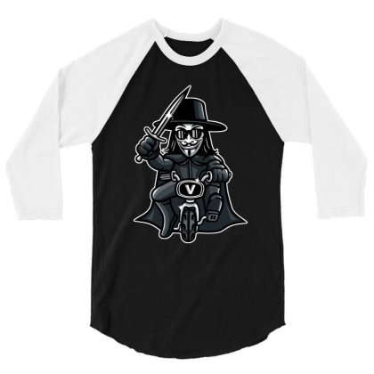 Vendetta Biker 3/4 Sleeve Shirt Designed By Douglasstencil