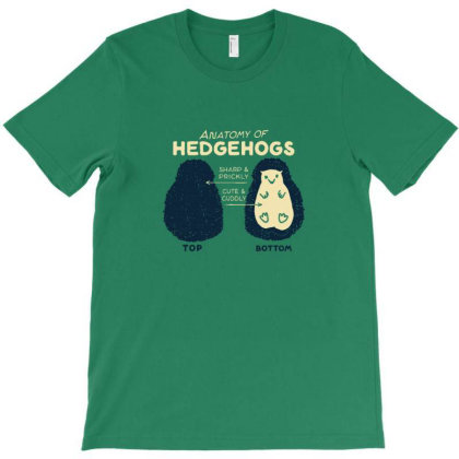 Anatomy Of Hedgehogs T-shirt Designed By Gaya