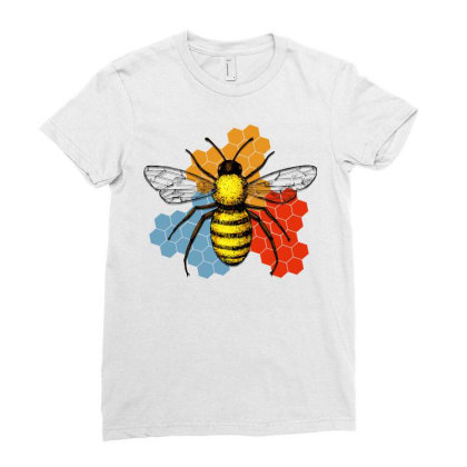 Honeycomb Ladies Fitted T-shirt Designed By Gurkan