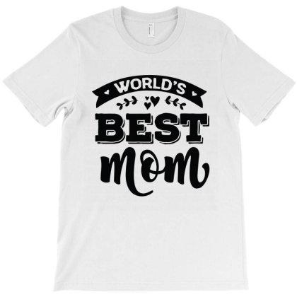 World's Best Mom T-shirt Designed By Emardesign