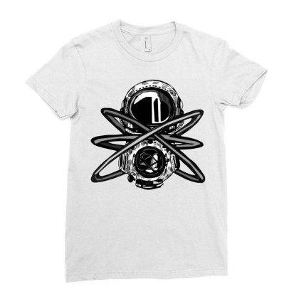 Helmet Comics Ladies Fitted T-shirt Designed By Mysticalbrain