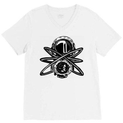Helmet Comics V-neck Tee Designed By Mysticalbrain