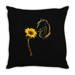 you are my sunshine horse Throw Pillow | Artistshot