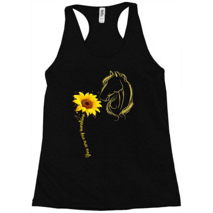 You Are My Sunshine Horse Racerback Tank Designed By Badaudesign
