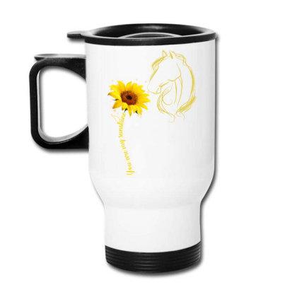 You Are My Sunshine Horse Travel Mug Designed By Badaudesign