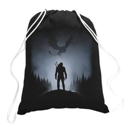 White Wolf Drawstring Bags Designed By Ddjvigo