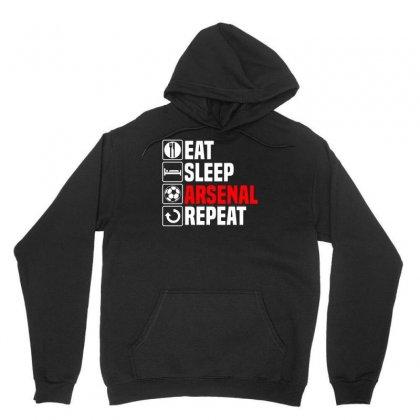 Eat Sleep Arsenal Unisex Hoodie Designed By Budi