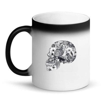 Beautiful Floral Jungle Skull Magic Mug Designed By Wukashart
