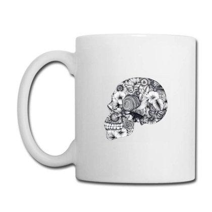 Beautiful Floral Jungle Skull Coffee Mug Designed By Wukashart