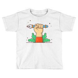 hand hold pen tool cursor Toddler T-shirt | Artistshot