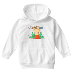 hand hold pen tool cursor Youth Hoodie | Artistshot