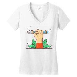 hand hold pen tool cursor Women's V-Neck T-Shirt | Artistshot