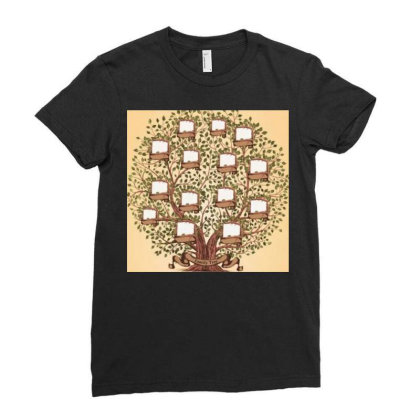 Family Trees Ladies Fitted T-shirt Designed By Vj4170