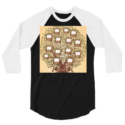 Family Trees 3/4 Sleeve Shirt Designed By Vj4170