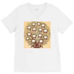 Family trees V-Neck Tee | Artistshot