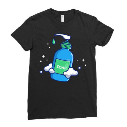 Liquid Soap 1 Ladies Fitted T-shirt Designed By Lenart