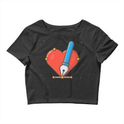love with pen tool cursor Crop Top | Artistshot