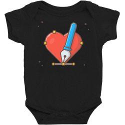 love with pen tool cursor Baby Bodysuit   Artistshot