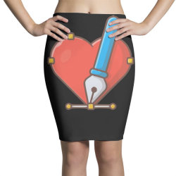 love with pen tool cursor Pencil Skirts | Artistshot