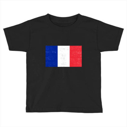 Grunge French Flag Toddler T-shirt Designed By Alamy