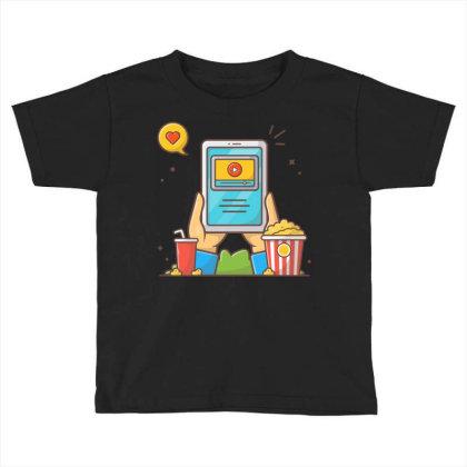 Online Cinema Toddler T-shirt Designed By Lenart