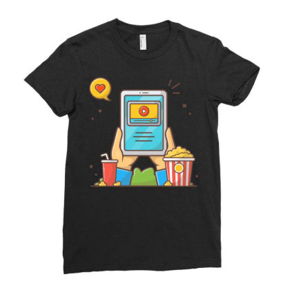Online Cinema Ladies Fitted T-shirt Designed By Lenart