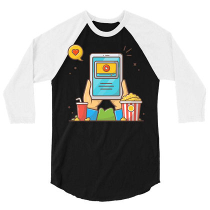 Online Cinema 3/4 Sleeve Shirt Designed By Lenart