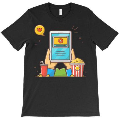 Online Cinema T-shirt Designed By Lenart