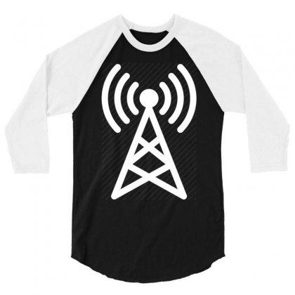 Antenna Broadcast 3/4 Sleeve Shirt Designed By Mdk Art