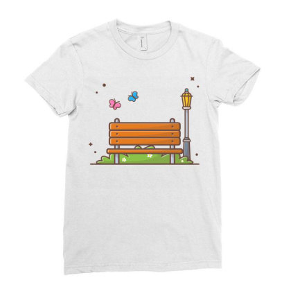 Outdoor Park Ladies Fitted T-shirt Designed By Lenart