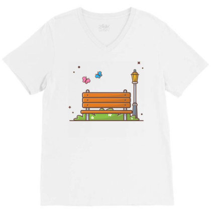 Outdoor Park V-neck Tee Designed By Lenart