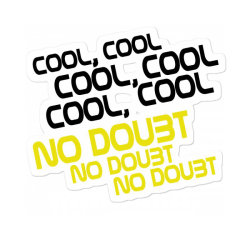 Cool, No Doubt For Light Sticker Designed By Gurkan
